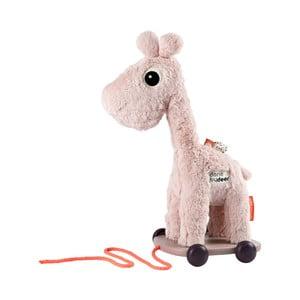 Ružová hračka na kolieskach Done by Deer Raffi