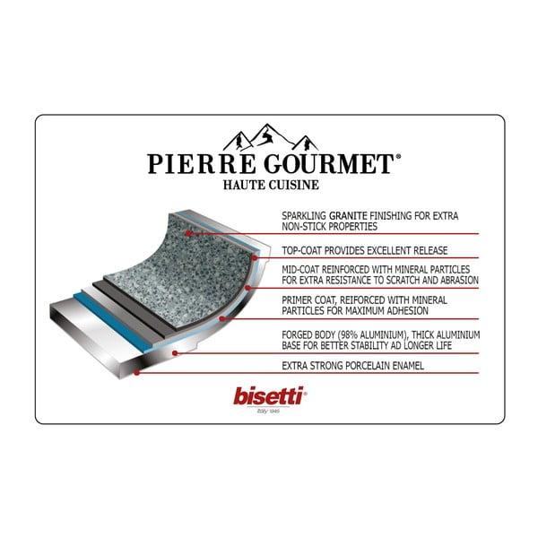 Panvica s pokrievkou a s drevenou rukoväťou Bisetti Pierre Gourmet,Ø24cm