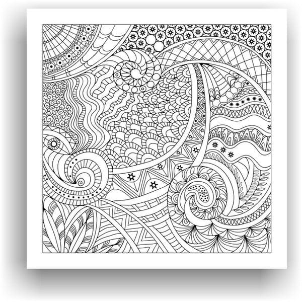 Obraz na vymaľovanie Color It no. 37, 50x50 cm