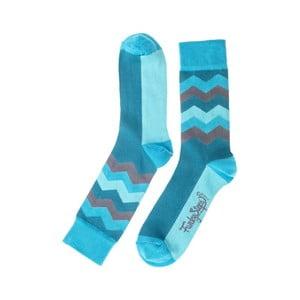Modré ponožky Funky Steps Wave, veľkosť 39 - 45