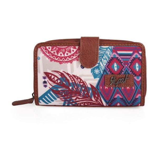 Ružovo-modrá peňaženka SKPA-T, 16 x 9 cm