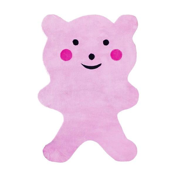 Detský koberec Mavis Teddy Bear Pink, 100x150 cm