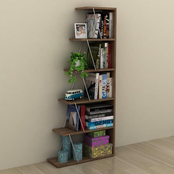 Knižnica v dekore orechového dreva Rafevi Tars Mini