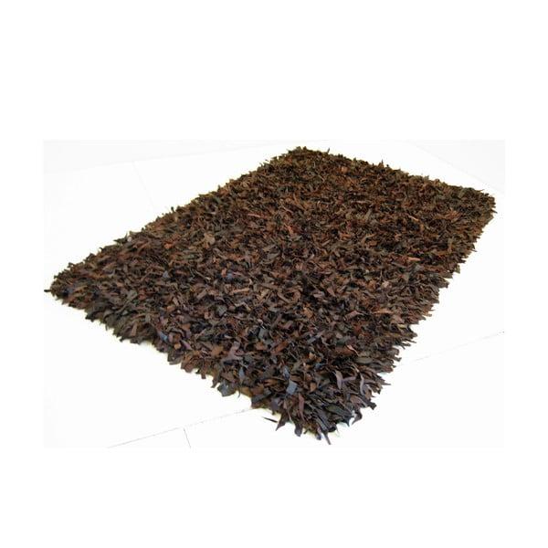 Kožený koberec Cotex Shaggy, 140 × 200 cm
