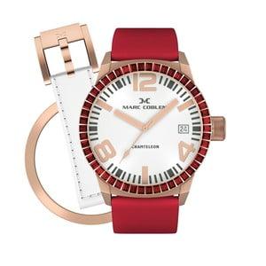 Dámske hodinky Marc Coblen s remienkom a krúžkom na ciferník naviac P87