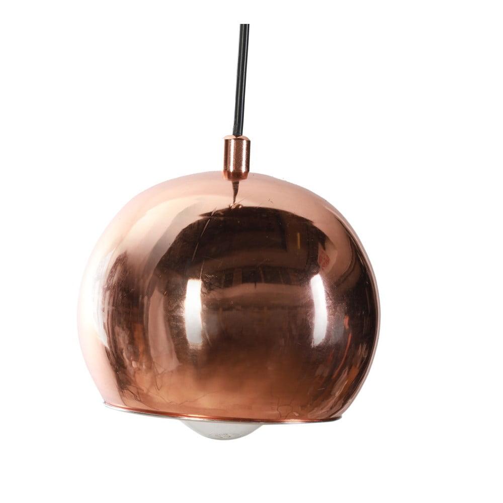 Závesné svietidlo medenej farby Masivworks Globe