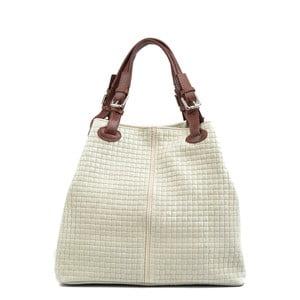 Béžová kožená kabelka Isabella Rhea 858