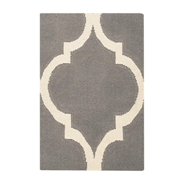Vlnený koberec Caroline Grey, 60 x 90 cm