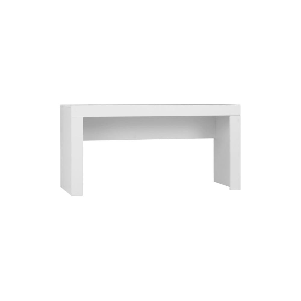 Biely detský písací stôl Pinio Calmo, dĺžka 125 cm