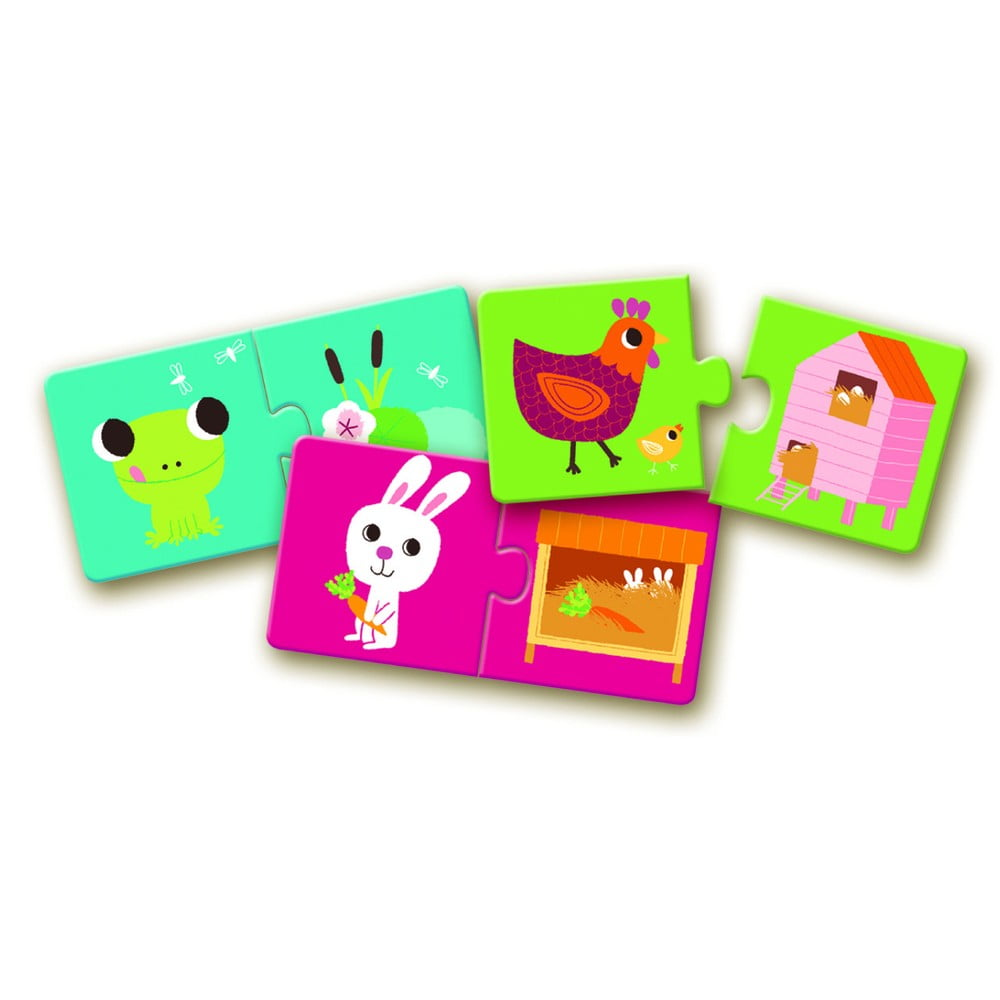 Detské puzzle Djeco Zvieracie pelechy