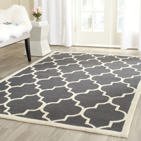 Vlnený koberec Everly 91x152 cm, sivý