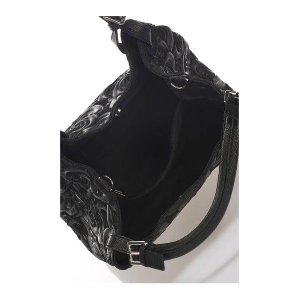 Čierna kožená kabelka Massimo Castelli Eriberti