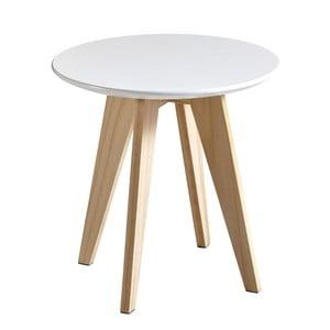 Biely odkladací stolík Rondo