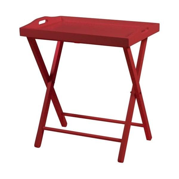 Červený odkladací stolík Actona Vassoio