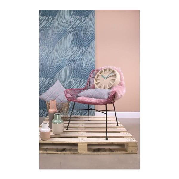 Vankúš Padded Grid Jeans Grey, 50x30 cm