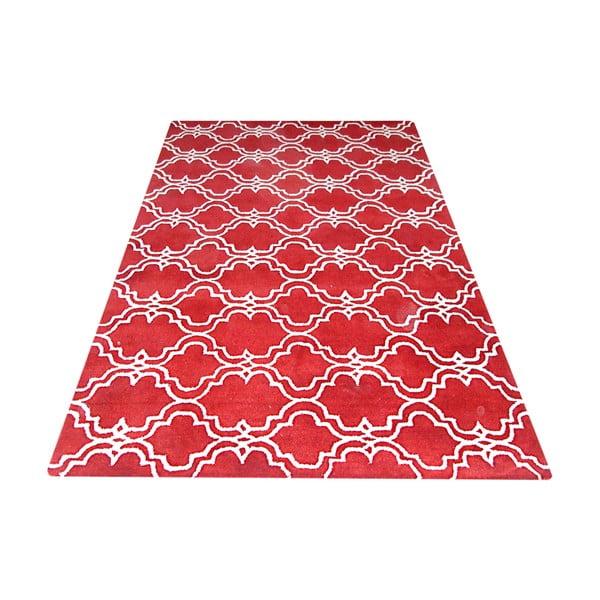 Červený vlnený koberec Bakero Riviera, 244 x 153 cm