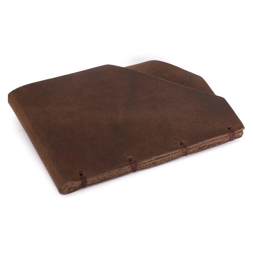 Hnedá kožená peňaženka Woox Minor Fuscus
