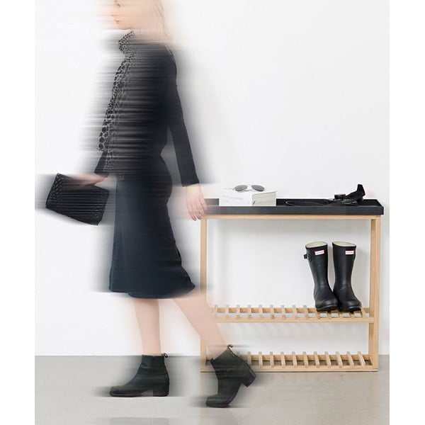 Skrinka na topánky/úložný stolík s bielou doskou Wireworks Hello Storage