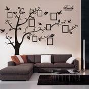 Dekoratívna samolepka Strom s fotorámčekmi, ľavá strana 180x250 cm