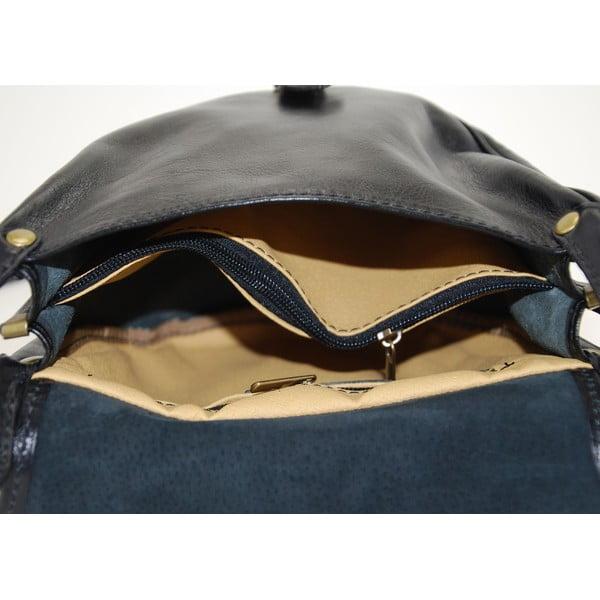 Kožená kabelka Amarette Nero
