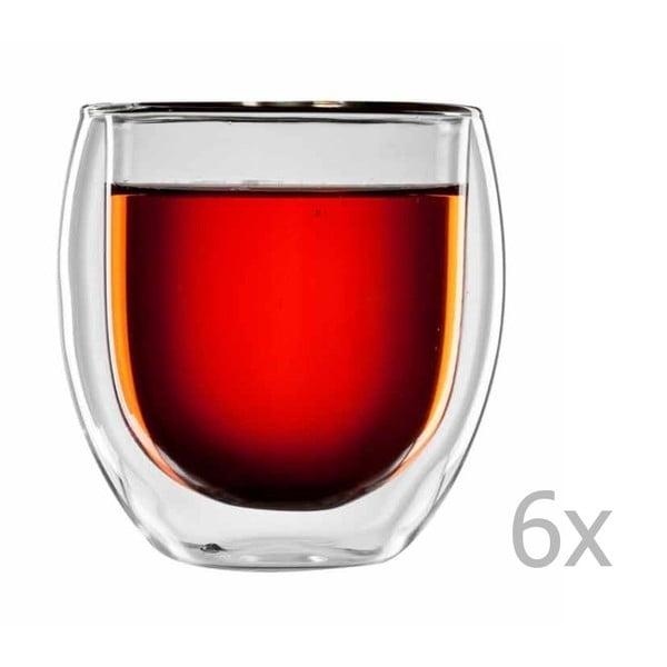 Sada 6 pohárov na čaj bloomix Tunis
