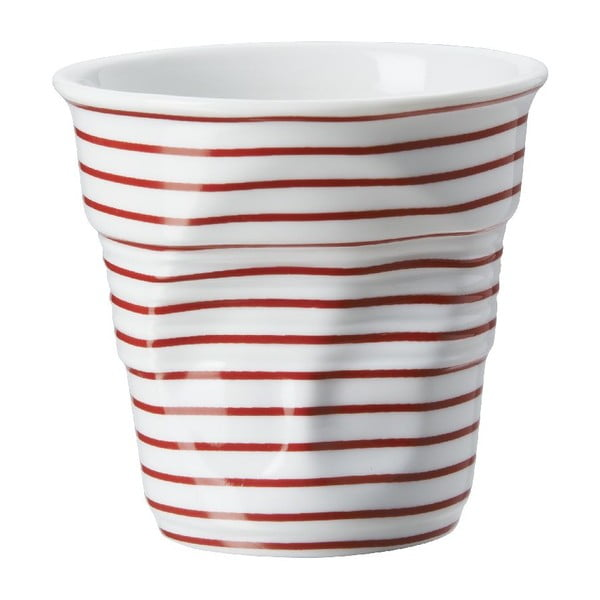 Pohárik  na cappuccino Froisses 18 cl, červené pruhy