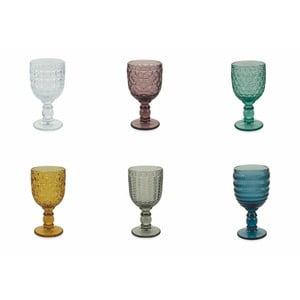 Sada 6 farebných pohárov na víno Villa d'Este Geometria, 280 ml