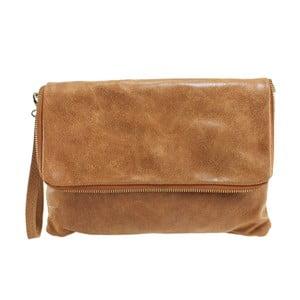 Hnedá kožená peňaženka Chicca Borse Grena