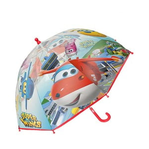 Detský transparentný dáždnik Birdcage Super Wings, ⌀71 cm