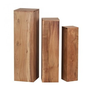 Sada 3 postavcov z masívneho akáciového dreva Skyport Octavia