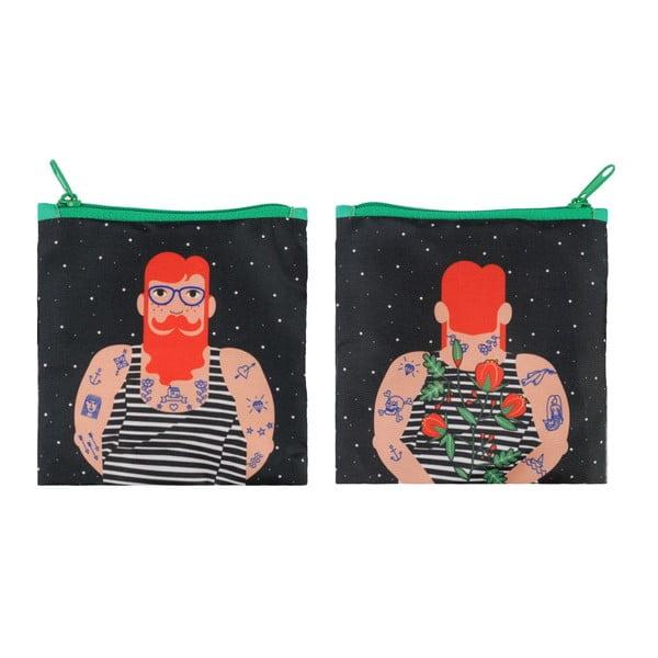 Skladacia nákupná taška Smoking Beard by Cristina Caramida