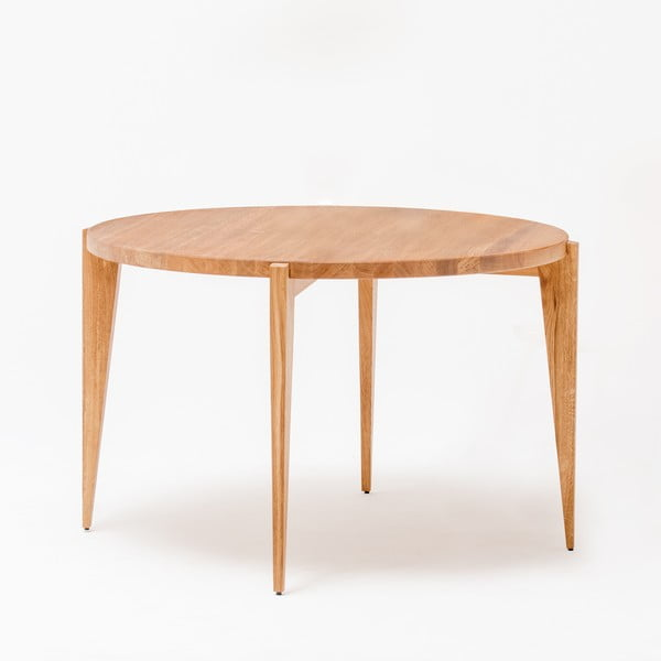 Dubový jedálenský stôl Bontri, Ø 115 cm