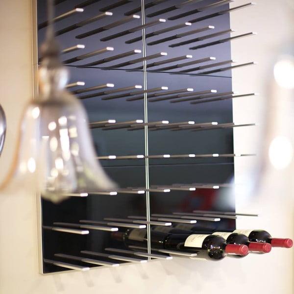 Nástenný stojan na víno STACT, čierny