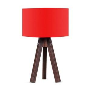 Stolová lampa s červeným tienidlom Kate Louise Kahve