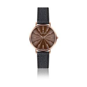 Dámske hodinky s čiernym remienkom z pravej kože Frederic Graff Rose Monte Rosa Lychee Black Leather