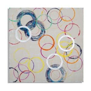 Ručne maľovaný obraz Mauro Ferretti Round, 80 x 80 cm