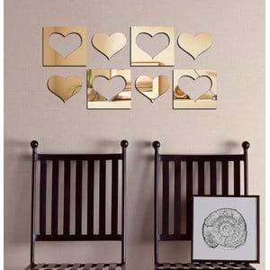 Dekoratívne zrkadlo Srdcová osma