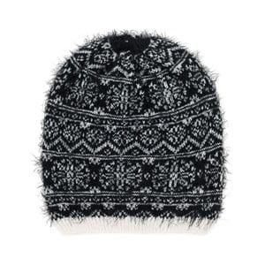 Čierno-biela čiapka Korma