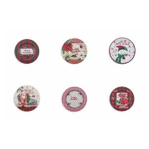 Sada 6 vianočných tanierov Villa d'Este XMAS Sottopiatto, ⌀ 33 cm