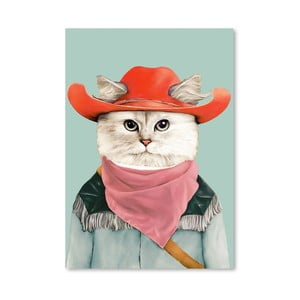 Plagát Rodeo Cat, 30x42 cm