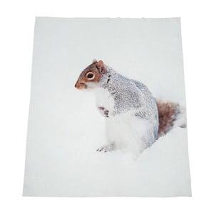 Biela deka J-Line Squirrell, 130x160 cm