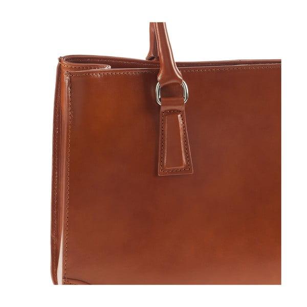 Medovohnedá kožená kabelka Ore Diece Benevento