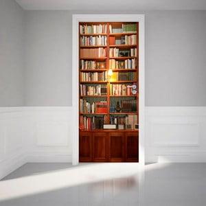 Adhezívna samolepka na dvere Ambiance Bookshelf, 83 x 204 cm