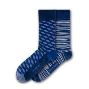 Sada 2 párov unisex ponožiek Black&Parker London Wellford Park, veľkosť 37 - 43