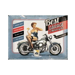 Plechová ceduľa Best Garage, 30x40 cm