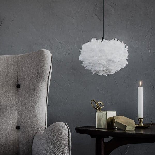 Biele svietidlo z husieho peria VITA Copenhagen EOS, Ø16 cm