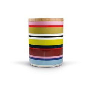 Porcelánová dóza s dreveným vrchnákom Remember Verano, 1,62×⌀1,25 cm