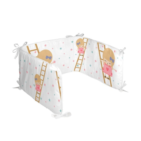 Textilný mantinel do postieľky Happynois Moon Dream, 210×40cm