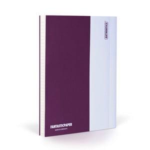 Zápisník FANTASTICPAPER A5 Aubergine/White, riadkovaný