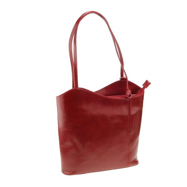 Kožená kabelka Pino, červená